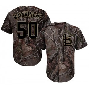 Authentic Men's Adam Wainwright Camo Jersey - #50 Baseball St. Louis Cardinals Flex Base Realtree Collection
