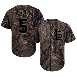 Authentic Men's Albert Pujols Camo Jersey - #5 Baseball St. Louis Cardinals Flex Base Realtree Collection