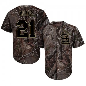 Authentic Men's Andrew Miller Camo Jersey - #21 Baseball St. Louis Cardinals Flex Base Realtree Collection