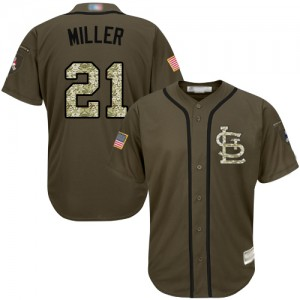 Authentic Men's Andrew Miller Green Jersey - #21 Baseball St. Louis Cardinals Salute to Service