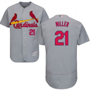 Authentic Men's Andrew Miller Grey Road Jersey - #21 Baseball St. Louis Cardinals Flex Base