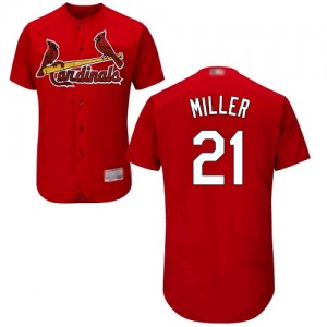 Authentic Men's Andrew Miller Red Alternate Jersey - #21 Baseball St. Louis Cardinals Flex Base