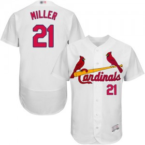 Authentic Men's Andrew Miller White Home Jersey - #21 Baseball St. Louis Cardinals Flex Base