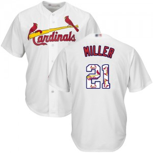 Authentic Men's Andrew Miller White Jersey - #21 Baseball St. Louis Cardinals Cool Base Team Logo Fashion