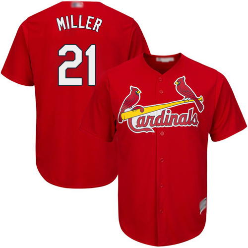 Authentic Youth Andrew Miller Red Alternate Jersey - #21 Baseball St. Louis Cardinals Cool Base