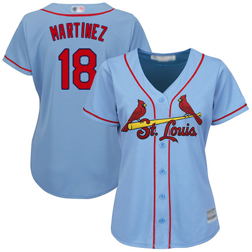 Replica Women's Carlos Martinez Light Blue Alternate Jersey - #18 Baseball St. Louis Cardinals Cool Base