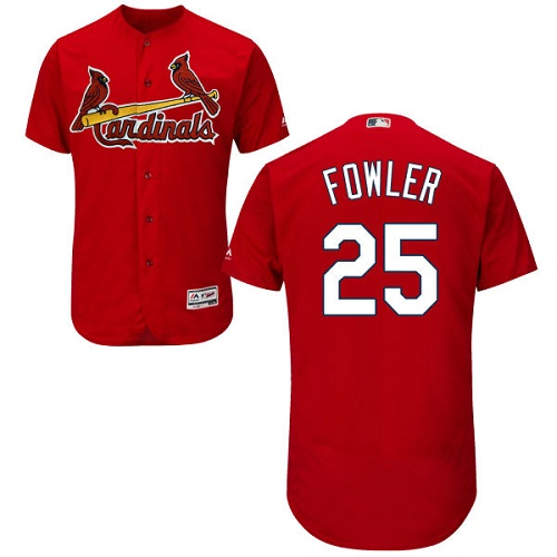 Men's St. Louis Cardinals #25 Dexter Fowler Red Flexbase Authentic Collection Baseball Jersey