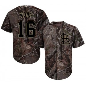 Authentic Men's Kolten Wong Camo Jersey - #16 Baseball St. Louis Cardinals Flex Base Realtree Collection