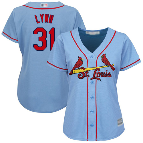 Replica Women's Lance Lynn Light Blue Alternate Jersey - #31 Baseball St. Louis Cardinals Cool Base