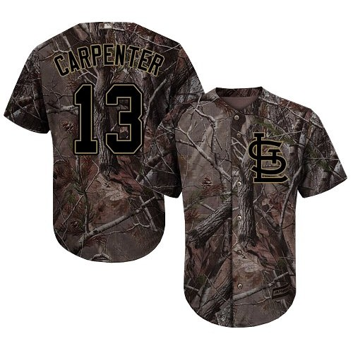 Authentic Men's Matt Carpenter Camo Jersey - #13 Baseball St. Louis Cardinals Flex Base Realtree Collection