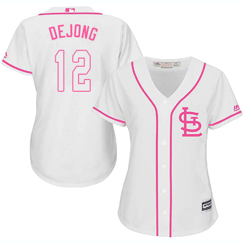 Authentic Women's Paul DeJong White Jersey - #12 Baseball St. Louis Cardinals Cool Base Fashion