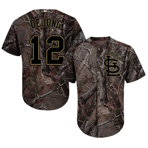 Authentic Youth Paul DeJong Camo Jersey - #12 Baseball St. Louis Cardinals Flex Base Realtree Collection