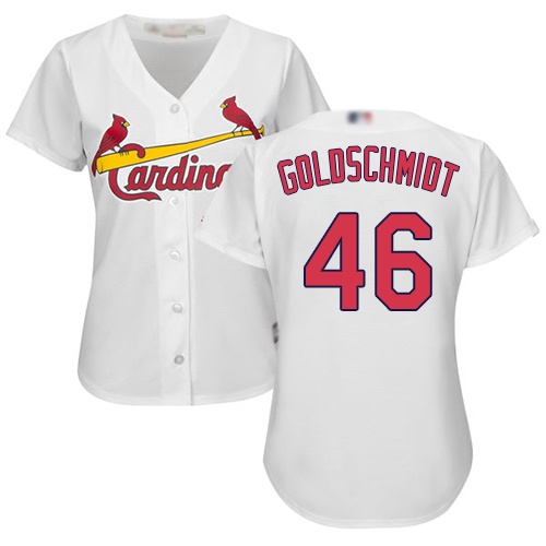 Authentic Women's Paul Goldschmidt White Home Jersey - #46 Baseball St. Louis Cardinals Cool Base