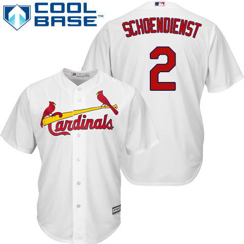 Men's St. Louis Cardinals #2 Red Schoendienst Replica White Home Cool Base Baseball Jersey