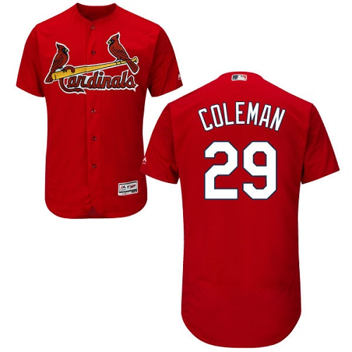 Authentic Men's Vince Coleman Red Alternate Jersey - #29 Baseball St. Louis Cardinals Flex Base